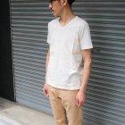 More photos2: オーガニックコットン天竺Vネック半袖Tシャツ【MADE IN JAPAN】『日本製』/ Upscape Audience