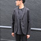 More photos3: 綿麻ツイル ノーカラープルオーバーコンチョボタン 7分袖 オーバーサイズシャツ【MADE IN JAPAN】『日本製』/ Upscape Audience