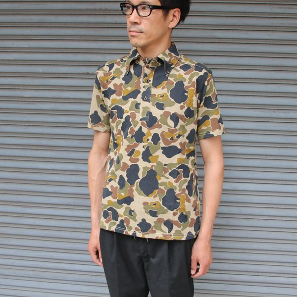 画像3: 【RE PRICE / 価格改定】ダックカモプリント天竺ボタンダウンカラーポロシャツ【MADE IN JAPAN】『日本製』/ Upscape Audience