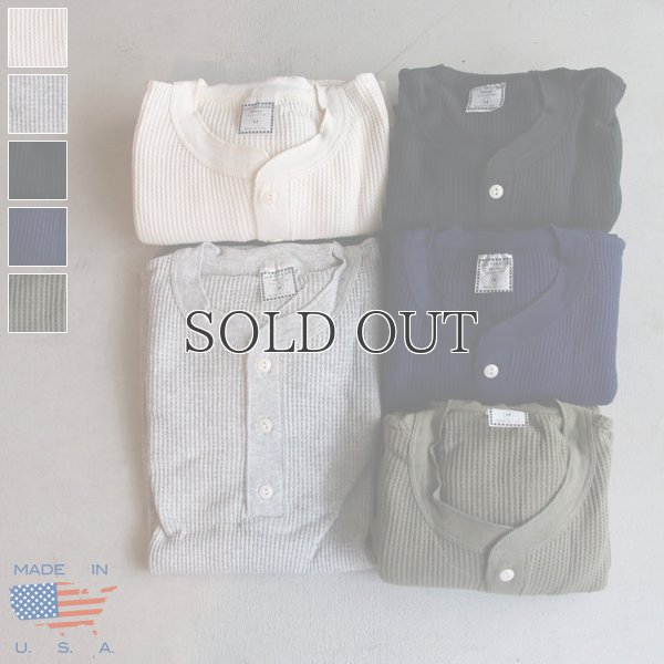 画像1: OLD FASHION (オールドファッション) サーマルヘンリーネックカットソー【MADE IN U.S.A】『米国製』/ デッドストック