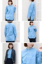 More photos3: タイプライターバンドカラーオーバーサイズL/Sシャツ[Lady's]【MADE IN JAPAN】『日本製』/ Upscape Audience