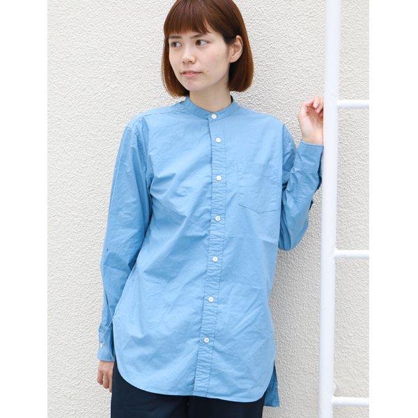 画像2: タイプライターバンドカラーオーバーサイズL/Sシャツ[Lady's]【MADE IN JAPAN】『日本製』/ Upscape Audience