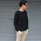 More photos3: ランダムワッフル グラスポケット付き C/N L/S ニットソー【MADE IN JAPAN】『日本製』/ Upscape Audience