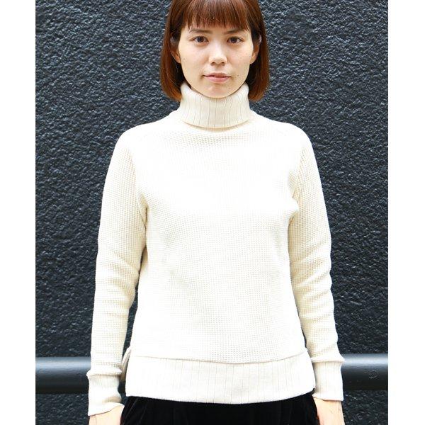 画像2: ビックワッフルサドルショルダータートルネックニット[Lady's]【MADE IN JAPAN】『日本製』 / Upscape Audience