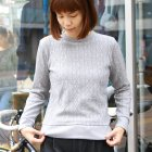 More photos1: ケーブルクルーネック長袖ニットソー[Lady's]【MADE IN JAPAN】『日本製』/ Upscape Audience