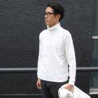 More photos2: BOROライク ランダムワッフル タートルネックニット【MADE IN JAPAN】『日本製』/ Upscape Audience