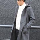 More photos3: BOROライク ランダムワッフル タートルネックニット【MADE IN JAPAN】『日本製』/ Upscape Audience