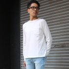 More photos1: 吊り編み天竺オーバーラップC/N グラスポケ付き L/S Tee【MADE IN TOKYO】『東京製』/ Upscape Audience