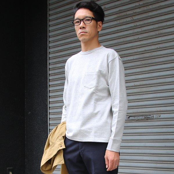 画像2: ヘビーウェイト天竺クルーネックポケット付きカットソー長袖【MADE IN JAPAN】『日本製』 / Upscape Audience