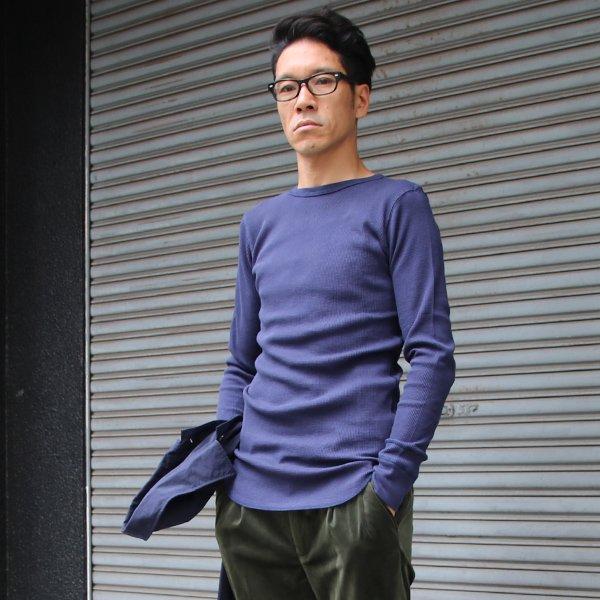 画像2: 度詰ワッフルクルーネックロング長袖カットソー【MADE IN JAPAN】『日本製』 / Upscape Audience