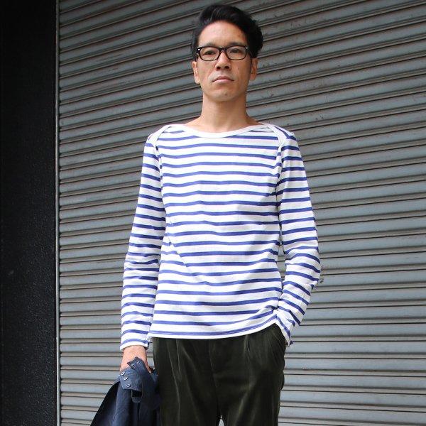 画像2: BSQボーダーベイビーボートネック長袖カットソー【MADE IN JAPAN】『日本製』/ Upscape Audience