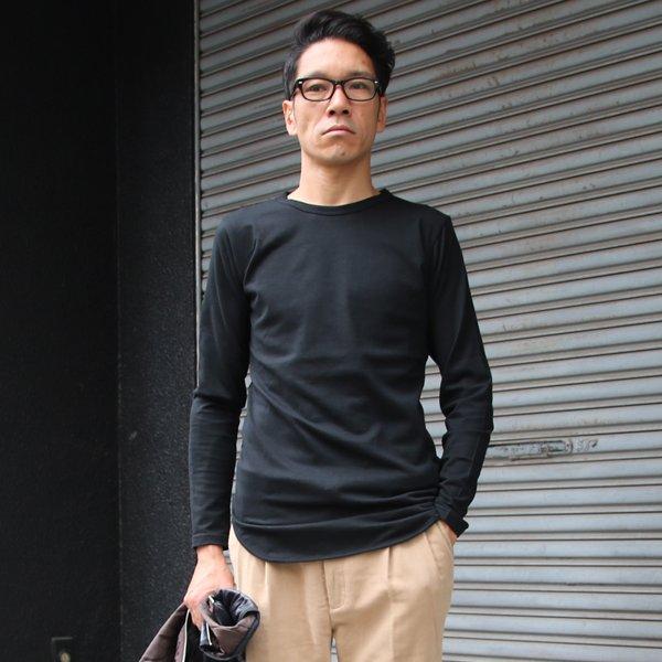 画像2: コーマ天竺ロング丈長袖Tシャツ【MADE IN JAPAN】『日本製』/ Upscape Audience