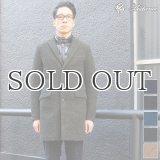 スライバーウールニット3ボタンチェスターコート  【送料無料】  / Audience