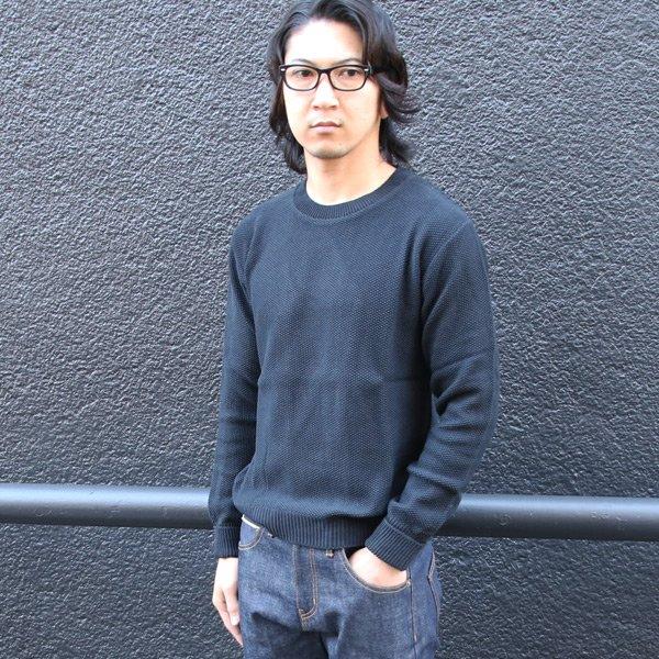 画像2: French Linen(フレンチリネン)鹿の子クルーネック長袖ニット【MADE IN JAPAN】『日本製』/ Upscape Audience