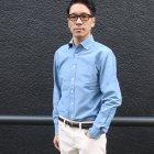 More photos2: インディゴオックスフォードワイドスプレッドボタンダウン長袖シャツ【MADE IN JAPAN】『日本製』/ Upscape Audience
