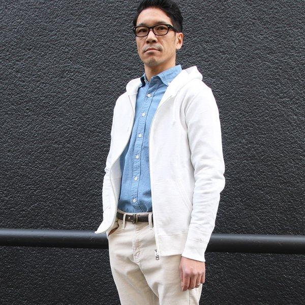 画像2: 裏毛フードZIPパーカー【MADE IN JAPAN】『日本製』/ Upscape Audience