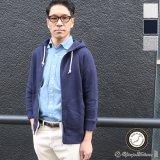 ソフトエアー裏毛ラグラン7分袖フードジップパーカー【MADE IN JAPAN】『日本製』/ Upscape Audience