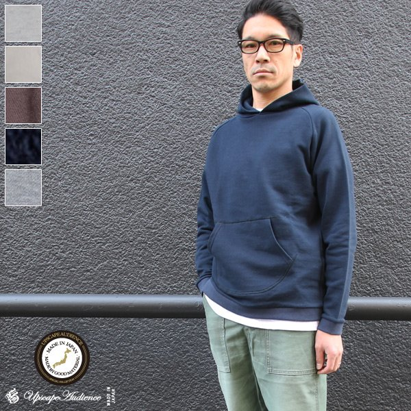 画像1: スウェット サドルショルダー フードプルオーバー L/S 【MADE IN JAPAN】『日本製』/ Upscape Audience