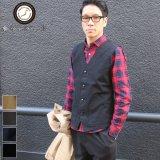 ヘビーオックスVネック4Bベスト【MADE IN JAPAN】『日本製』/ Upscape Audience