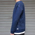 More photos3: 本藍染裏毛 ガゼットC/N L/S スウェット【MADE IN TOKYO】『東京製』/ Upscape Audience