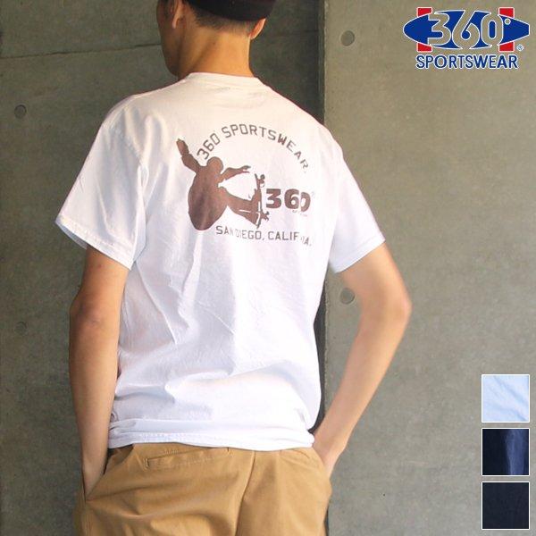 """画像1: 360°SPORTS WEAR(スリーシックスティスポーツウェア) """"PLAY"""" 6oz米綿丸胴ポケ付きS/S Tee/ Audience"""