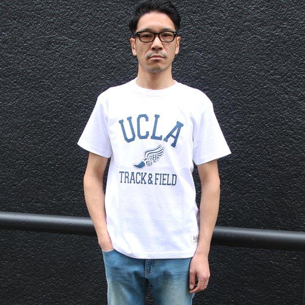 """画像2: 6.2oz丸胴UCLA""""T&F""""オールドプリントTEE / Audience"""