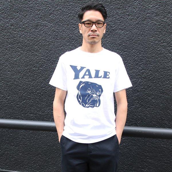 """画像2: 6.2oz丸胴YALE""""Handsome-YALE""""オールドプリントTEE / Audience"""