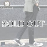 黒×黒セルヴィッチ(赤耳)ストレッチデニムアンクルパンツ『日本製』【送料無料】  / Upscape Audience