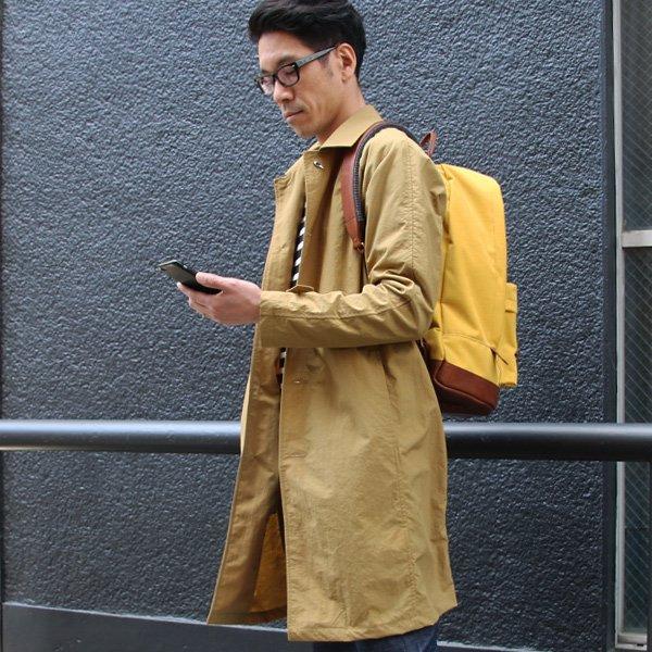 画像2: リップストップ撥水ナイロン ラグランスリーブ ステンカラーコート【MADE IN JAPAN】『日本製』/ Upscape Audience