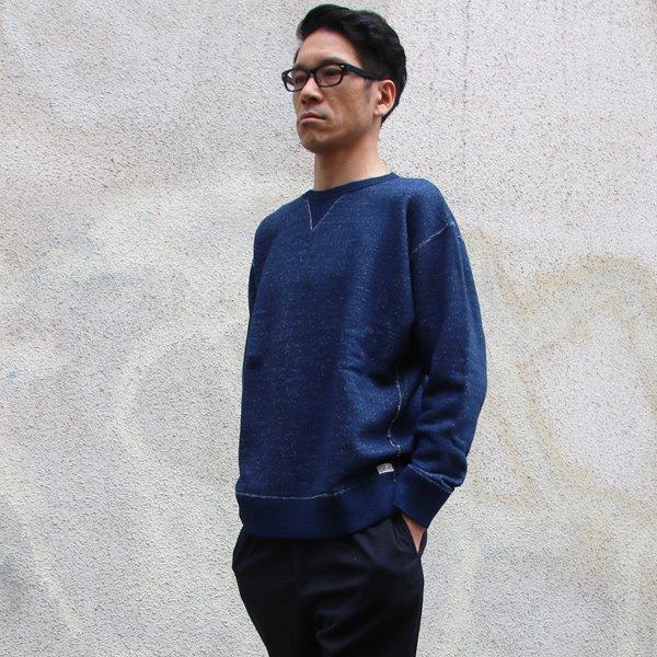 画像2: 本藍染裏毛 ガゼットC/N L/S スウェット【MADE IN TOKYO】『東京製』/ Upscape Audience