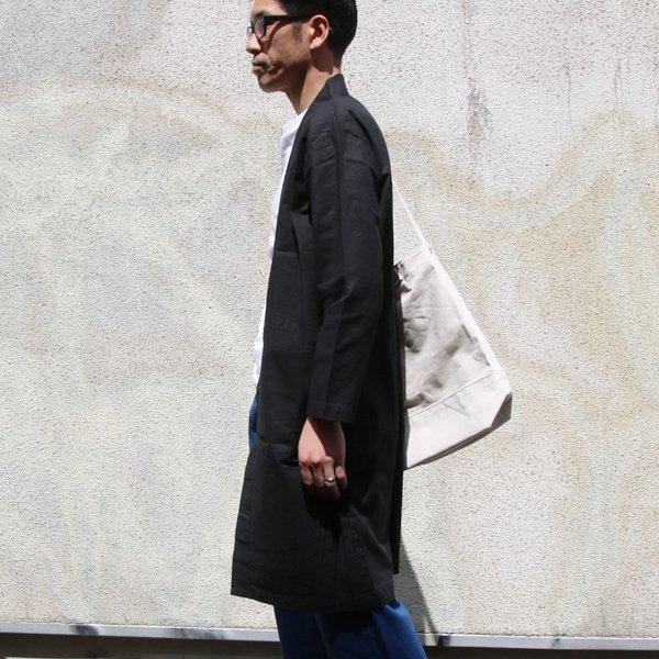 画像2: 綿麻ムラ糸サージサムエガウン_Coat【MADE IN JAPAN】『日本製』【送料無料】/ Upscape Audience