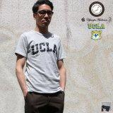 "【RE PRICE / 価格改定】UCLA ""UCLA""日本製ボディクラックプリント半袖Tシャツ / Upscape Audience"