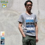 "【RE PRICE / 価格改定】 UCLA""BRUINS""コットン/三素材混カレッジプリント半袖VネックTシャツ / Audience"