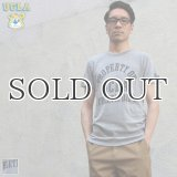 "UCLA""PROPERTY OF UCLA ATHLETIC DEPT""三素材混カレッジプリント半袖クルーネックTシャツ / Audience"
