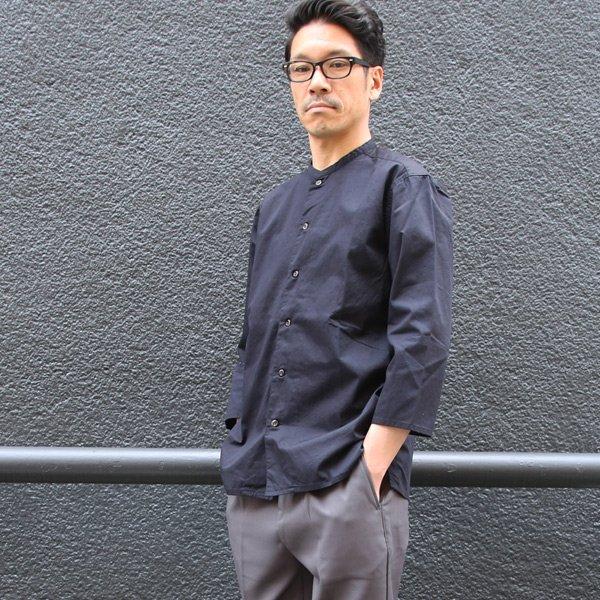 画像2: コットンギャバジン マオカラー 七分袖 シャツジャケット【MADE IN JAPAN】『日本製』/ Upscape Audience