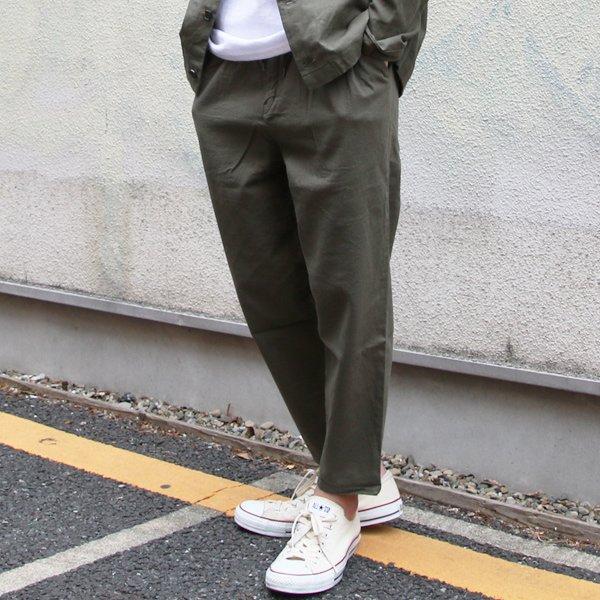 画像2: リネンキャンバスワイド 2タックアンクルパンツ【MADE IN JAPAN】『日本製』【送料無料】/ Upscape Audience