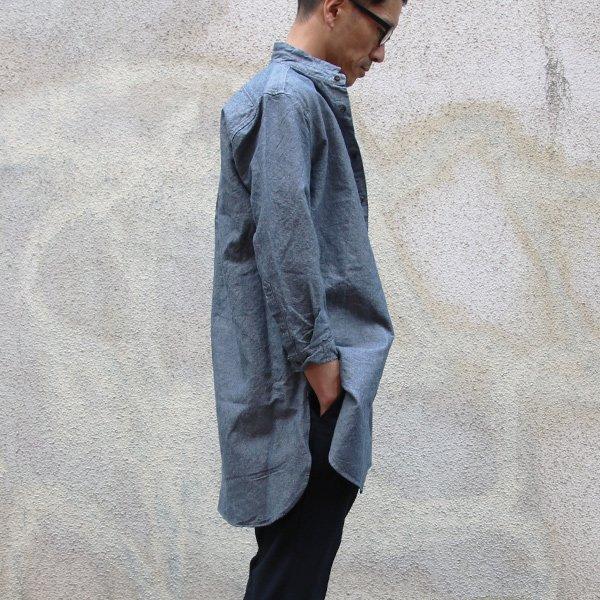 画像2: フレンチリネン綿麻交織ダンガリー ローマシャツコート【MADE IN JAPAN】『日本製』/ Upscape Audience