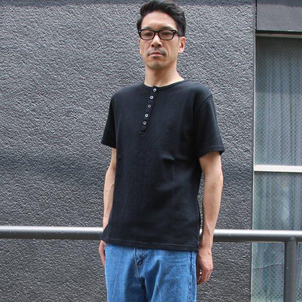 画像2: 【RE PRICE / 価格改定】JPSダブルニットクルーネックヘンリー半袖Tシャツ【MADE IN JAPAN】『日本製』/ Upscape Audience