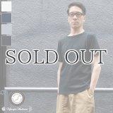 コーマ天竺レイヤードボートネックポケット半袖カットソー【MADE IN JAPAN】『日本製』/ Upscape Audience