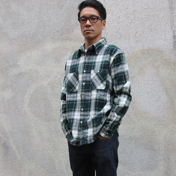 画像2: ヘビーフランネル長袖ワークネルシャツ  / CAMCO
