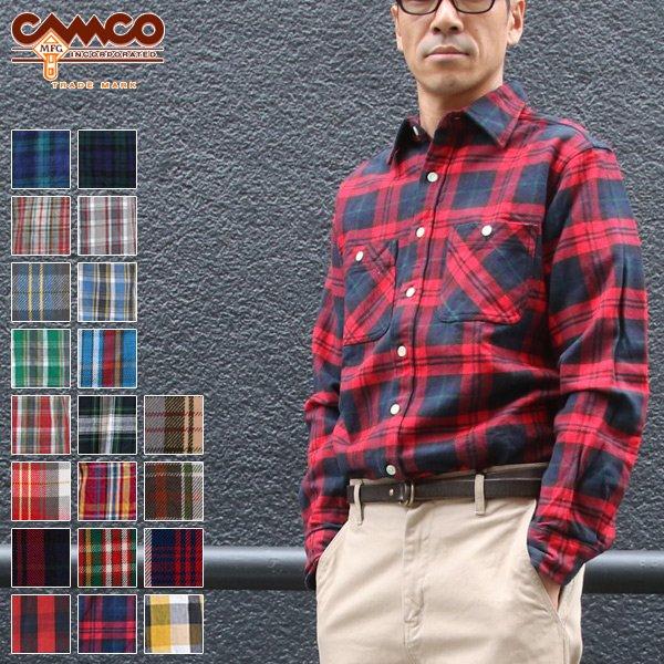 画像1: ヘビーフランネル長袖ワークネルシャツ  / CAMCO