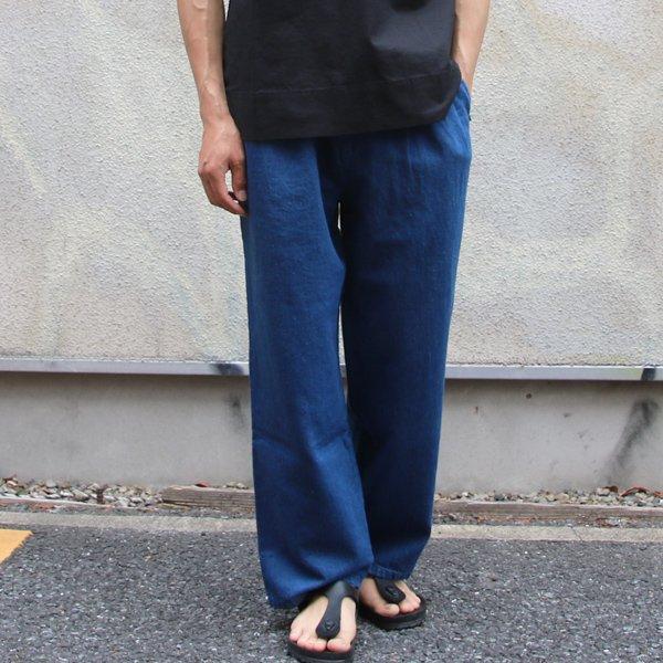 画像2: 麻混デニムイージーワイドインステップパンツ【MADE IN JAPAN】『日本製』【送料無料】/ Upscape Audience