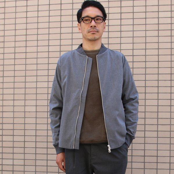 画像2: ギャバジンストレッチ MA-1ブルゾン【MADE IN JAPAN】『日本製』【送料無料】 / Upscape Audience