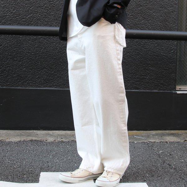 画像2: 赤耳(セルヴィッチ)ホワイトデニムワイドペインターインステップカットパンツ【MADE IN JAPAN】『日本製』【送料無料】/ Upscape Audience
