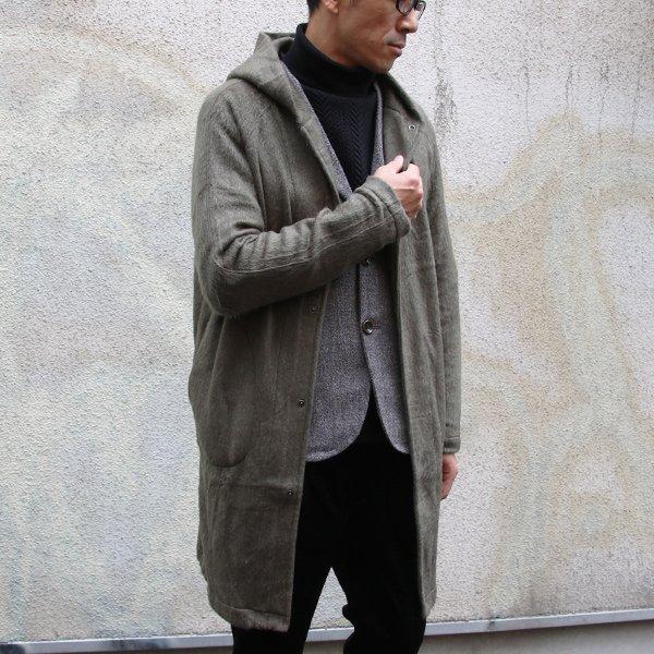 画像2: パイルシャギー フードスナップロングコート【MADE IN JAPAN】『日本製』【送料無料】/ Upscape Audience