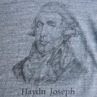 More photos2: 16/1吊編天竺 C/N Haydn Joseph プリント S/S Tee【MADE IN TOKYO】『東京製』/ Upscape Audience