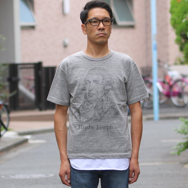 画像2: 16/1吊編天竺 C/N Haydn Joseph プリント S/S Tee【MADE IN TOKYO】『東京製』/ Upscape Audience【ご予約・4月中旬入荷予定】