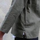 More photos3: ソフトリネンコットンキャンバス スタンドスモールカラー9/S シャツジャケット【MADE IN JAPAN】『日本製』/ Upscape Audience