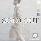 ヴィンテージナイロンオックス ルーズフィット ステンカラーロングコート【MADE IN JAPAN】『日本製』/ Upscape Audience