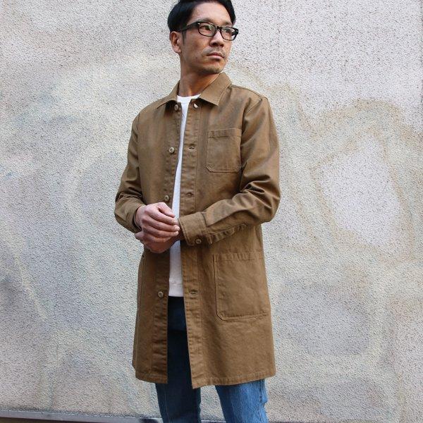 画像2: ヘビーオックスカバーオールステンカラーコート【MADE IN JAPAN】『日本製』/ Upscape Audience